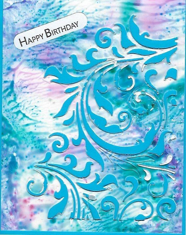 Clear Gesso With Pixie Powders Birthday Card Pixie Birthday Cards