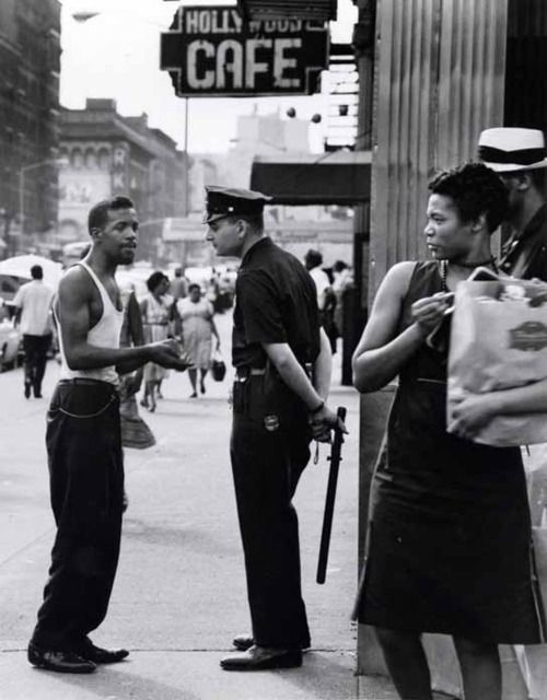 Trouble on Lenox Avenue and 116th Street  Harlem, early
