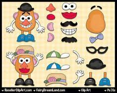 graphic about Mr Potato Head Printable Parts titled Mr And Mrs Potato Mind Clipart