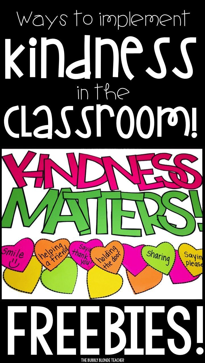 Easy ways to implement kindness into the classroom!
