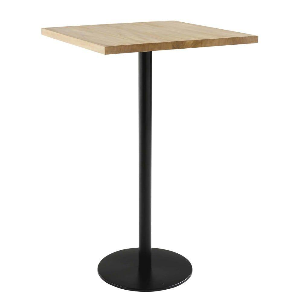 Plateau De Table Carre En Teck 2 Personnes L70 Plateau De Table Table Carree Et Mobilier De Salon