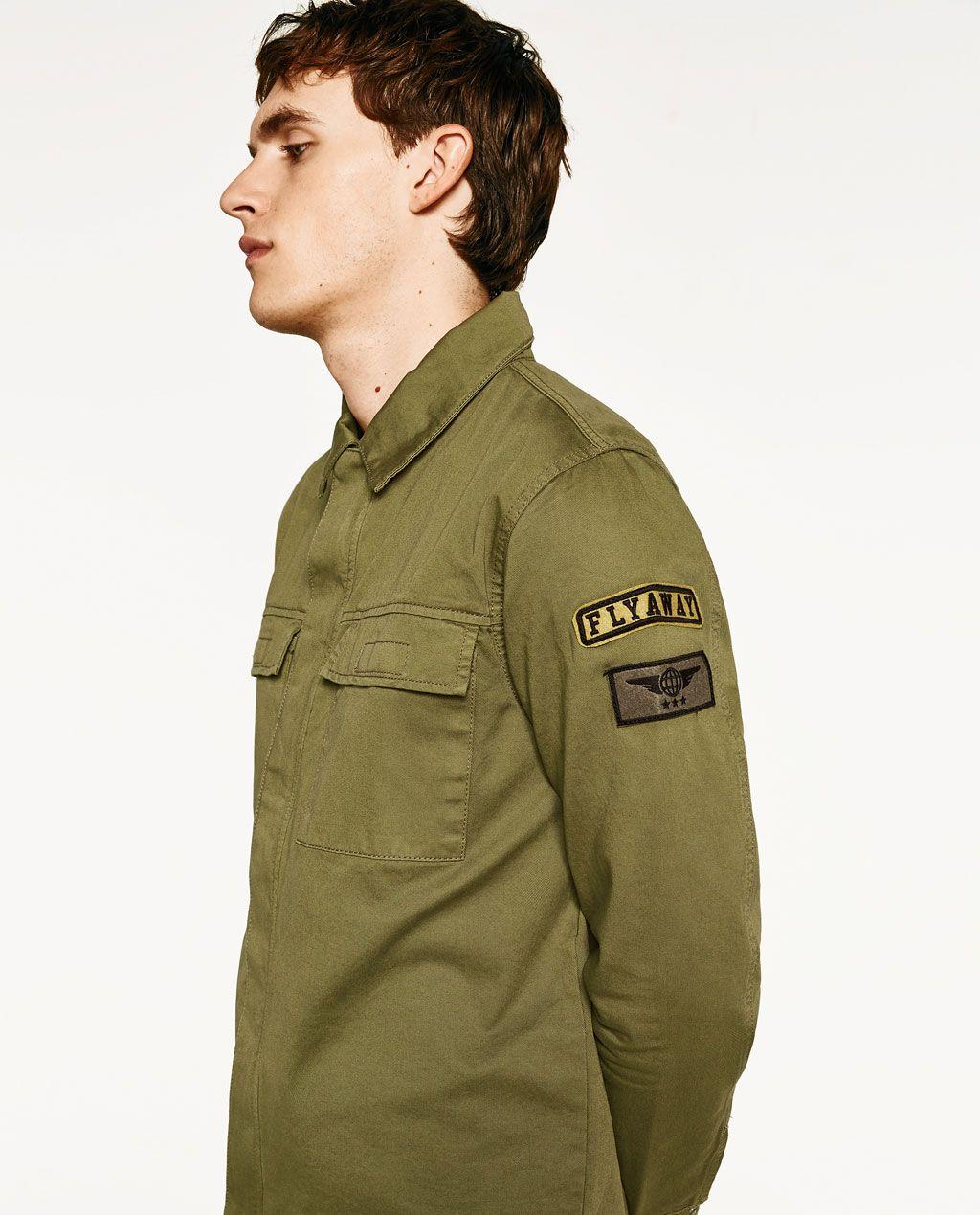 tienda del reino unido calidad y cantidad asegurada diseñador de moda Imagen 4 de SOBRECAMISA PARCHES de Zara | CAMISAS M/L en ...