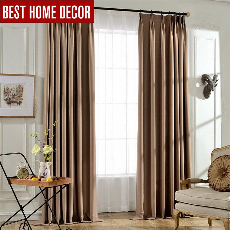 High Quality BHD Tailor Made Solid Modern Blackout Curtains For Window Blinds 95%  Shading Blackout Curtains