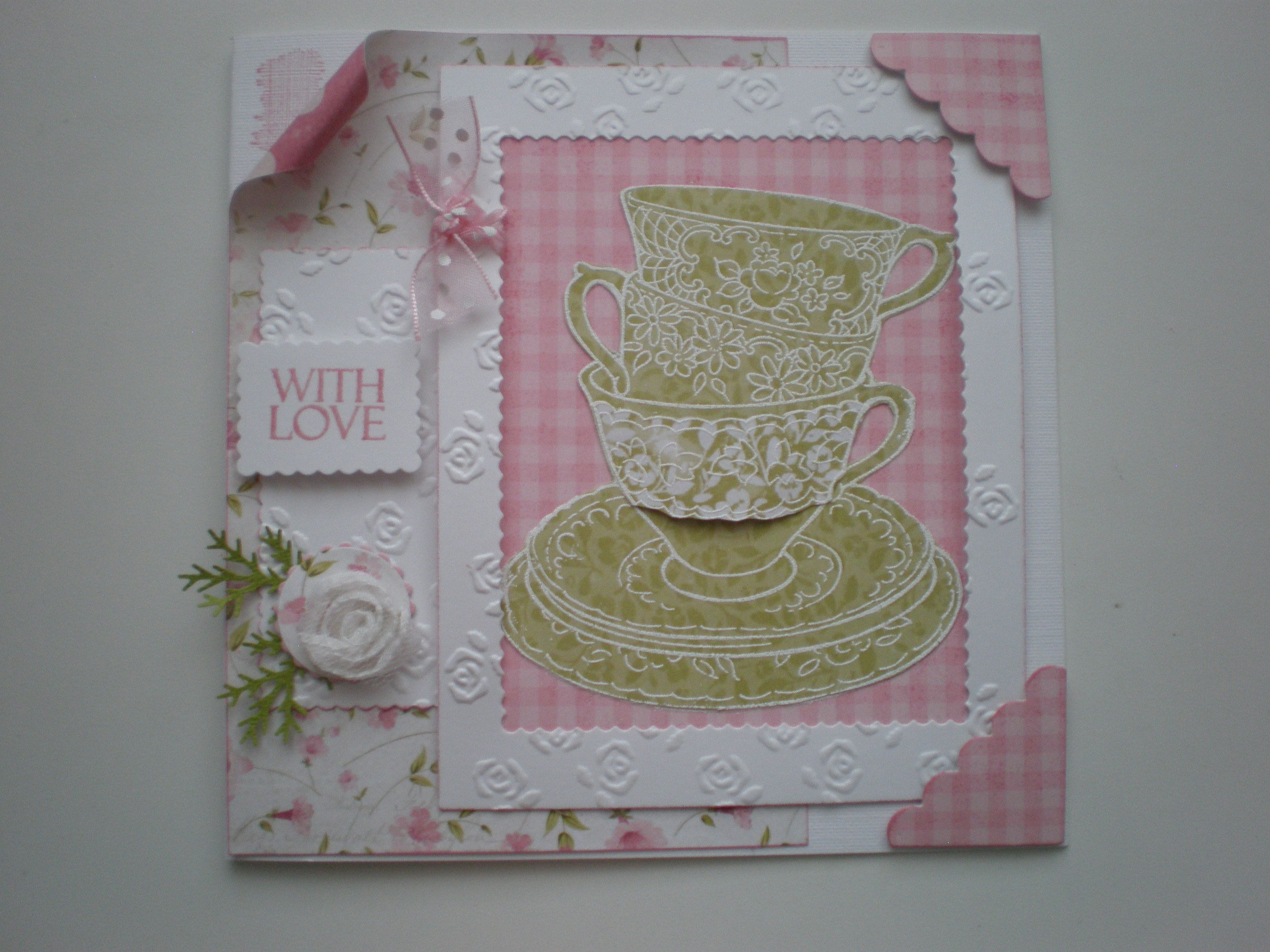 I love the Stampendous Teacups stamp.(Craftyhearts)