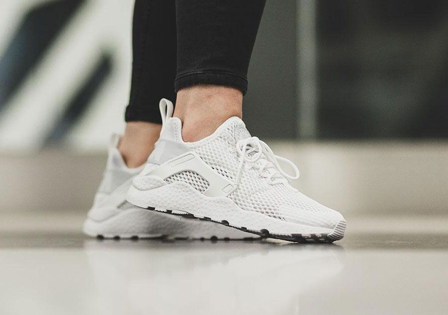 Fall/Winter Womens Nike Women's Air Huarache Run Ultra White / White-Black
