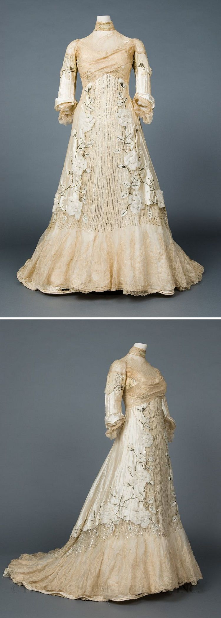 Evening gown, 1900