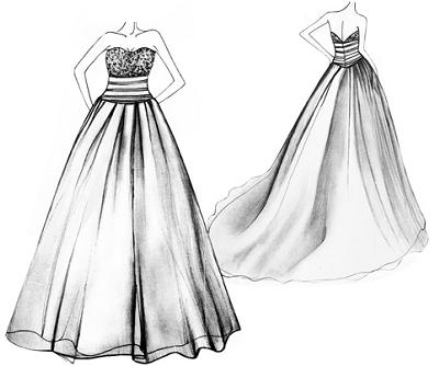 e40eb203b89 comment dessiner une robe de mariee