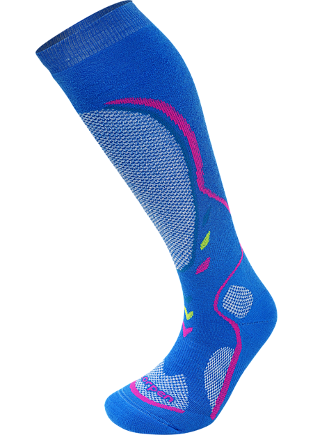 Lorpen T3 Midweight Ski Socks Women's The T3 Midweight ski sock is fantastic for skiers who need warmth, padding, and dryness on the slopes.