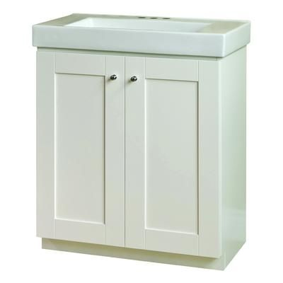 Magick Woods White Adrian Vanity Base And Top 30 Inch 48236