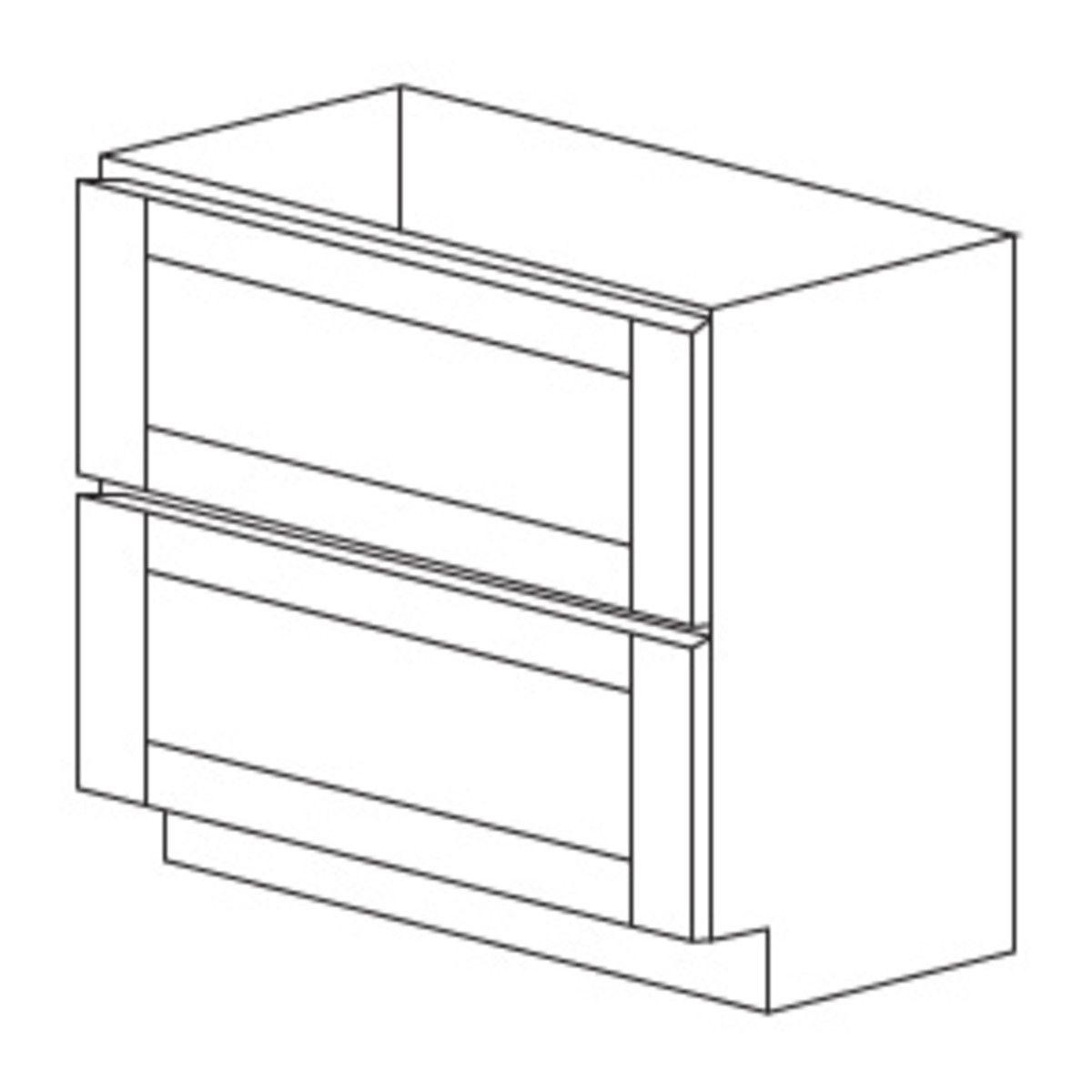 Best Malibu White 2 Drawer Base Cabinet 36 Cabinets To Go 400 x 300