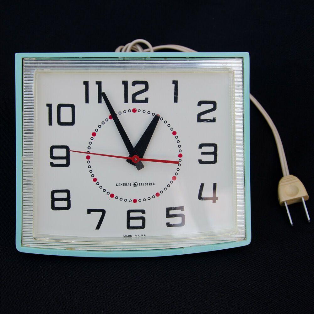 Pristine General Electric Model 2110a Mid Century Modern Wall Clock Ge Mid Century Modern Wall Clock Wall Clock Modern Retro Wall Clock