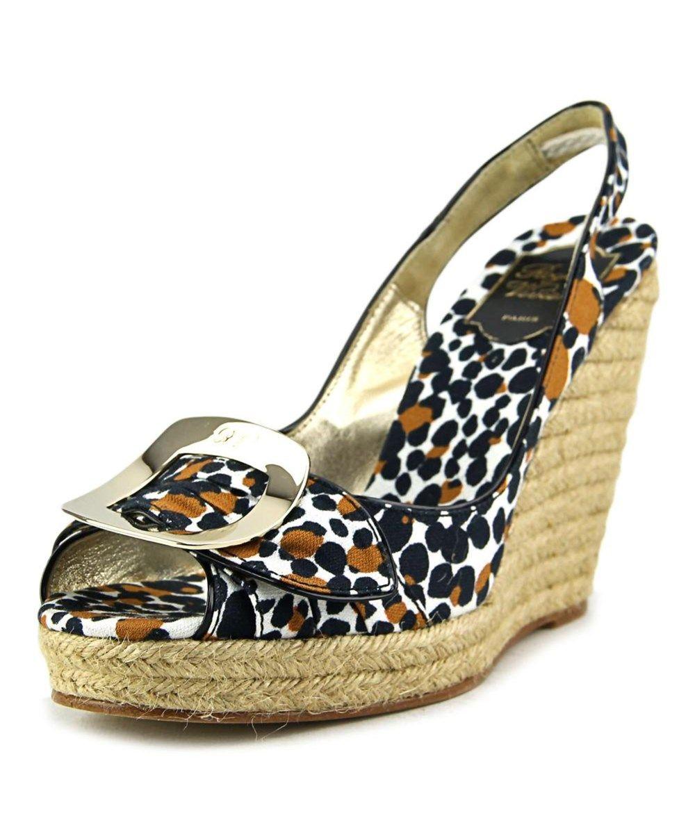 ROGER VIVIER Roger Vivier Cordella   Open Toe Canvas  Wedge Heel'. #rogervivier #shoes #pumps & high heels