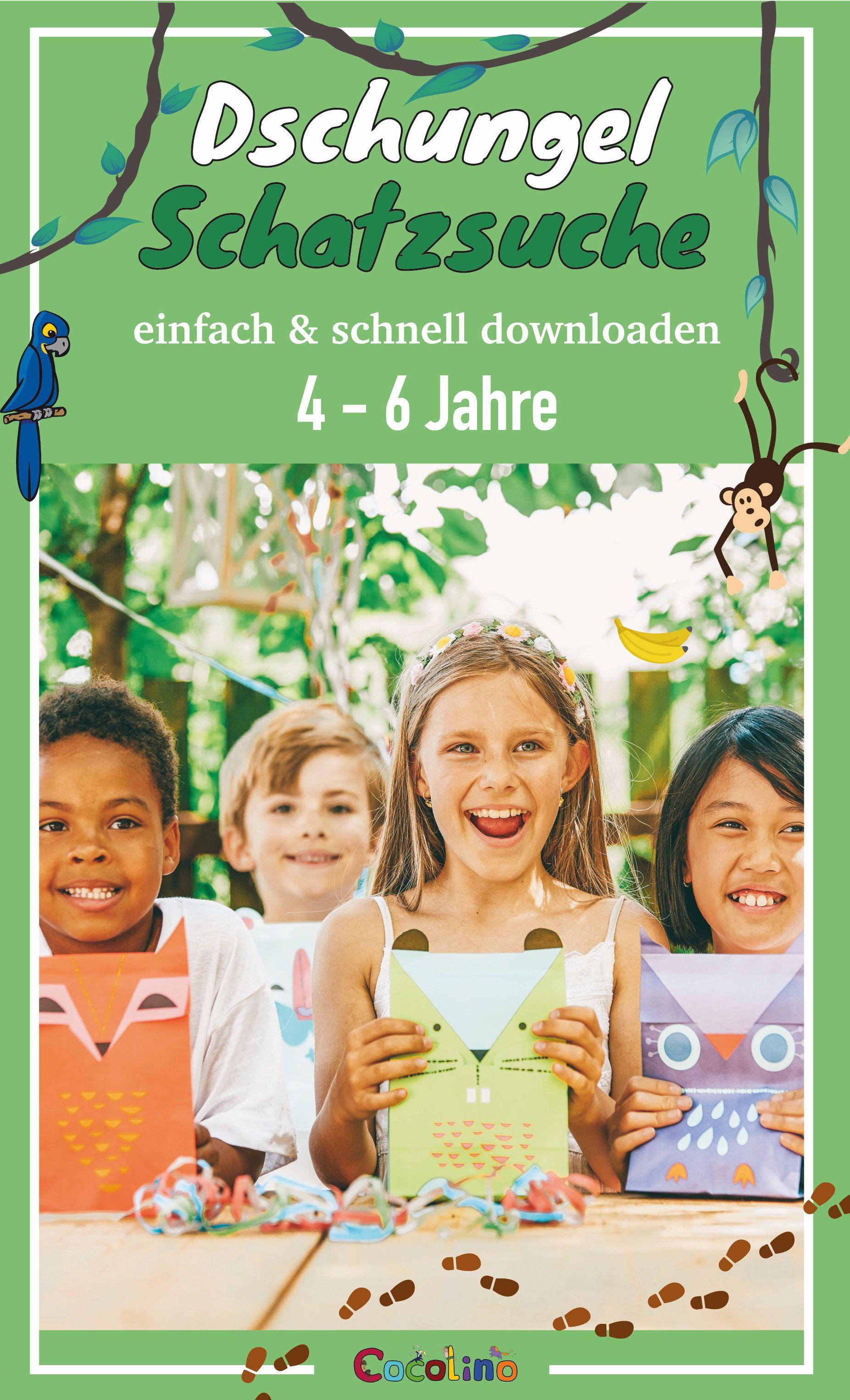 Dschungel Schatzsuche für 4 – 6 Jahre schnell & einfach downloaden