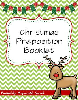 Christmas Prepositions Is A Cut And Paste Booklet