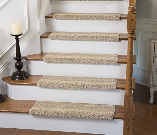 Amazon Com Caprice Bullnose Carpet Stair Tread With Adhesive Padding By Tread Comfort 1 Carpet Stair Treads Bullnose Carpet Stair Treads Stair Runner Carpet