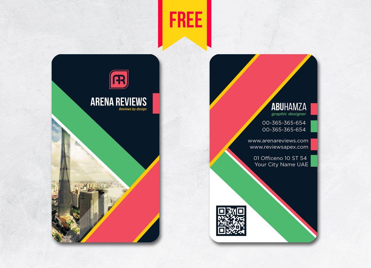 Vertical Business Card Design Psd Free Download Arenareviews With Vertical Business Card Design Business Card Template Photoshop Business Card Template Psd
