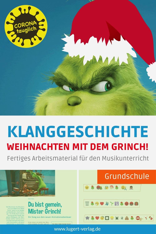 Klanggeschichte Weihnachten Mit Dem Grinch Corona Taugliches Material Fur Die Grundschule Video In 2020 Musikunterricht Klassische Weihnachtslieder Grundschule