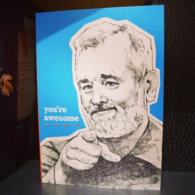 Journals need two things: #billmurray #motivational messages. We got that covered here.