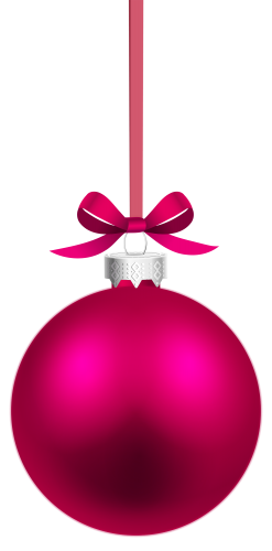 Pink Hanging Christmas Ball Png Clipart Christmas Balls Christmas Christmas Bulbs