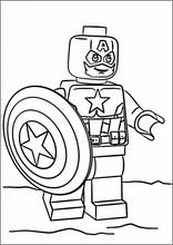 Pintar e colorir desenhos para crianças. Lego Marvel