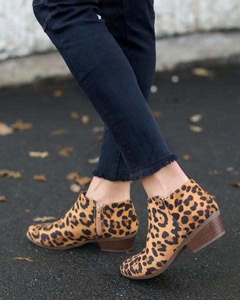 dbbb2d97af923 Stay ultra trendy in our Dewitt Leopard Print Ankle Booties! Leopard booties  are super on trend right now and we love pairing these cute boots with all  ...