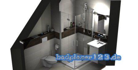 Badezimmer planen ~ Badezimmer mit dachschräge d planung badplaner und