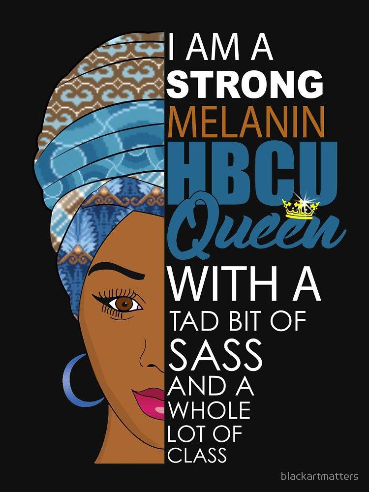 HBCU Melanin Queen Relaxed Fit TShirt in 2020 Black