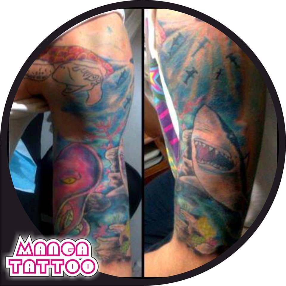 Full Color Deep Sea Sleeve 2013 by Manga Tattoo