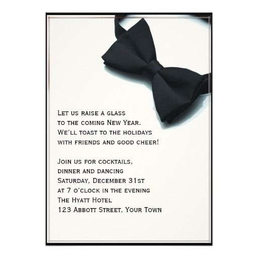 super smart invitations for a black tie new years eve party