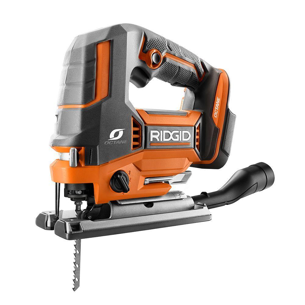 18v Octane Cordless Brushless Jig Saw Tool Only Saw Tool Best Jigsaw Ridgid Tools