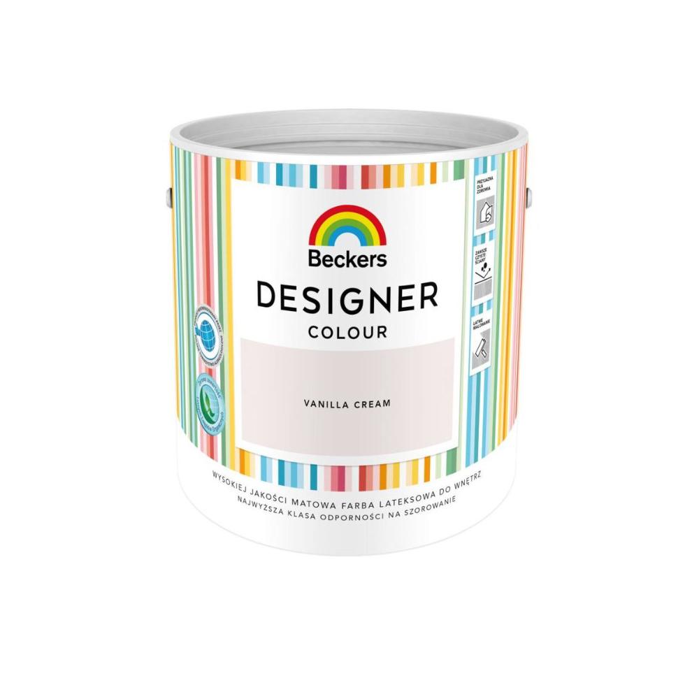 Farba Wewnetrzna Designer Colour 5 L Vanilla Cream Beckers Farby Scienne Kolorowe W Atrakcyjnej Cenie W Sklepach Leroy Mer Vanilla Cream Color Color Design