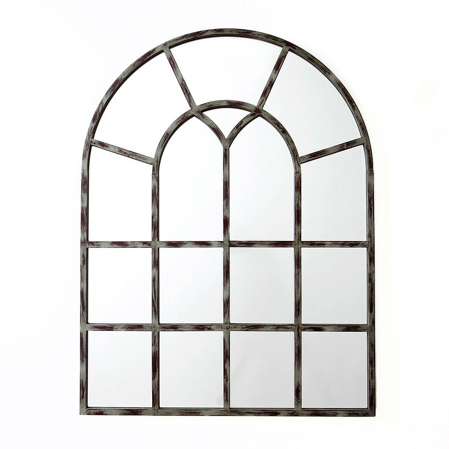 Arched window mirror roselawnlutheran Window pane mirror