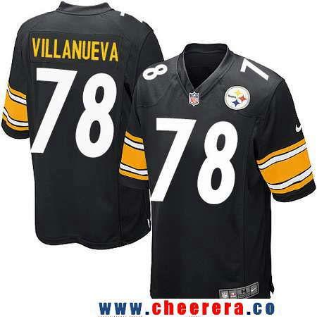 7acafc39102 ... Mens Pittsburgh Steelers 78 Alejandro Villanueva Black Team Color  Stitched NFL Nike Game Jersey Black Alejandro Villanueva Womens ...
