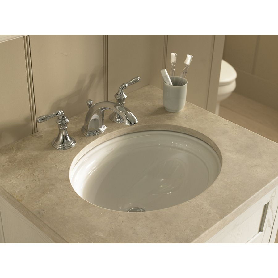 White Undermount Oval Bathroom Sink