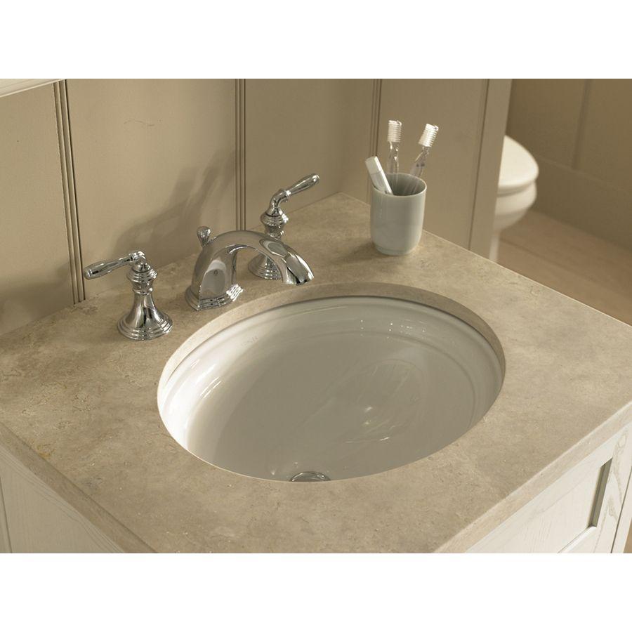 Shop Kohler Devonshire White Undermount Oval Bathroom Sink with