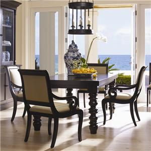 Drexel Heritage® Postobello Home   Dark Walnut 5 Piece Wellsley Dining Table  U0026 Chair Set