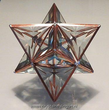 Large 3d Prisma Merkaba Sacred geometry by CrystalHealingArt