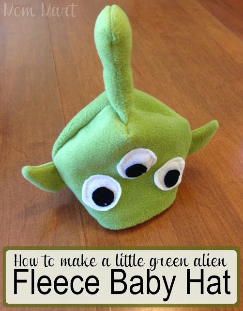 How To Make A Little Green Alien Fleece Baby Hat Diy Halloween