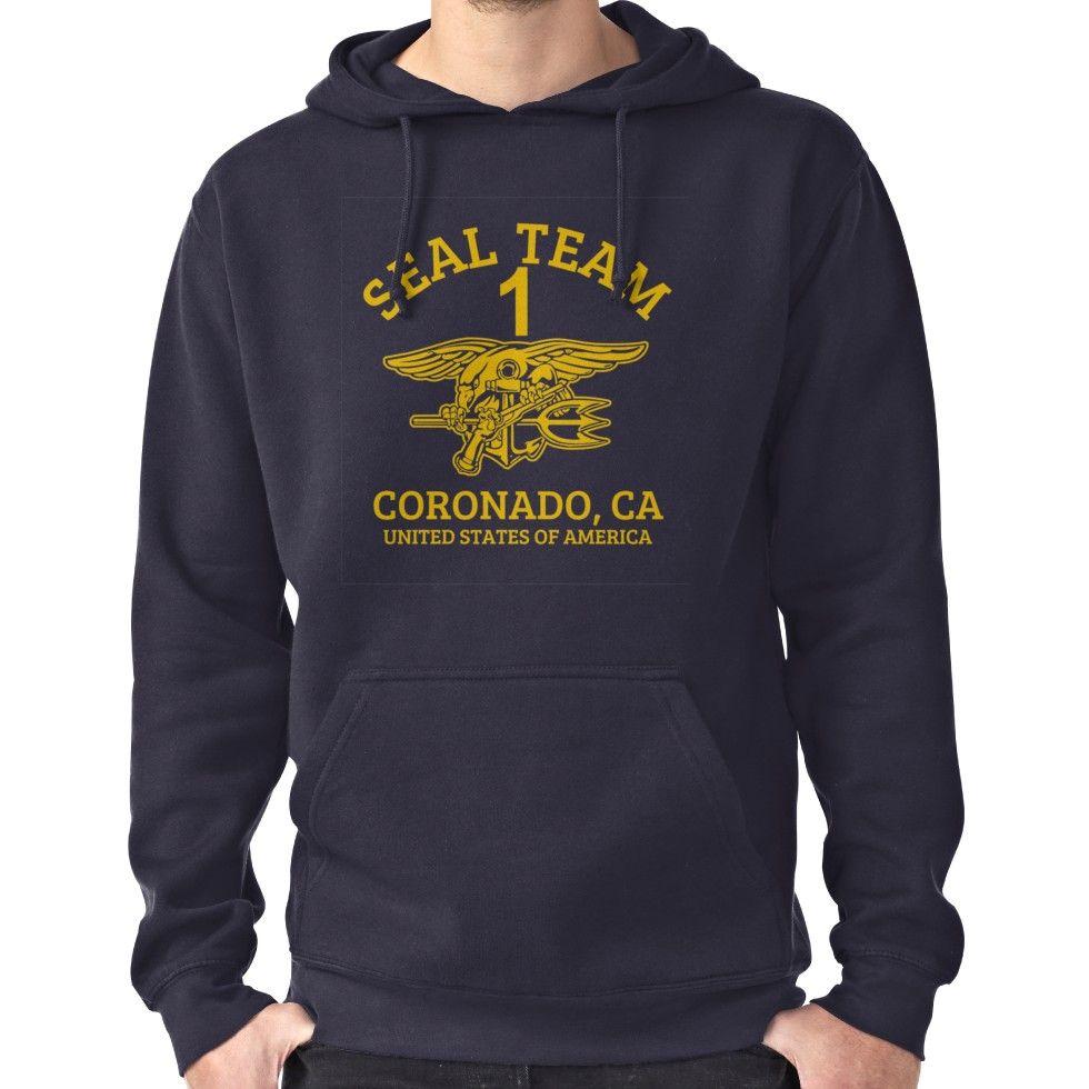U S Navy Seals Seal Team 1 Pullover Hoodie By Wikingershirts Navy Seal Shirts Hoodies Pullover Hoodie [ 980 x 980 Pixel ]