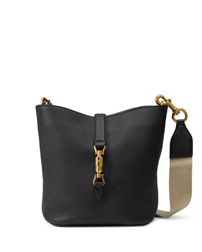 39b44af75a0c Gucci Jackie Black Soft Leather Bucket Bag - $2,600.00 | PURSES ...