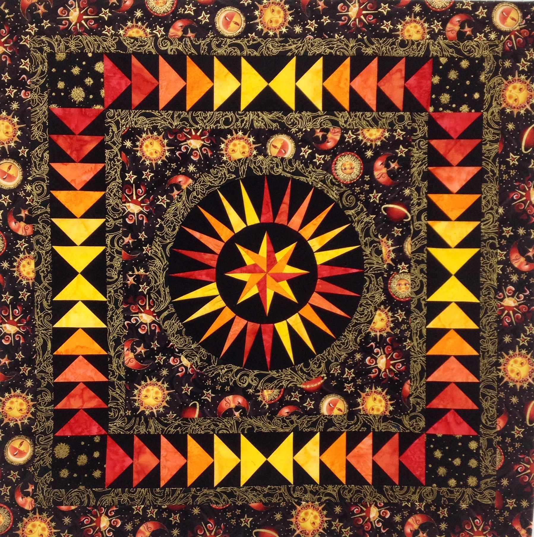 Compass Point Quilts | 2015-10/17 – BeColourful HAPPINESS Workshop – Material Girls Quilt Guild, Leominster, MA