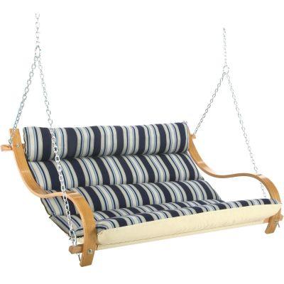 Deluxe Cushioned Double Swing Mariner Hamptons Summer Stripe Hatteras Hammocks Sku Cmnx Swings Hammock Factory Direct