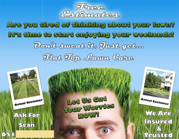 grass cutting flyers