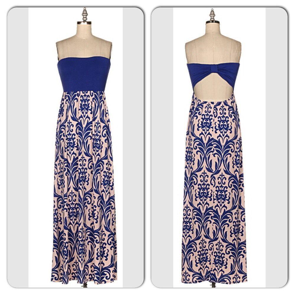 Tie back tube maxi dresses
