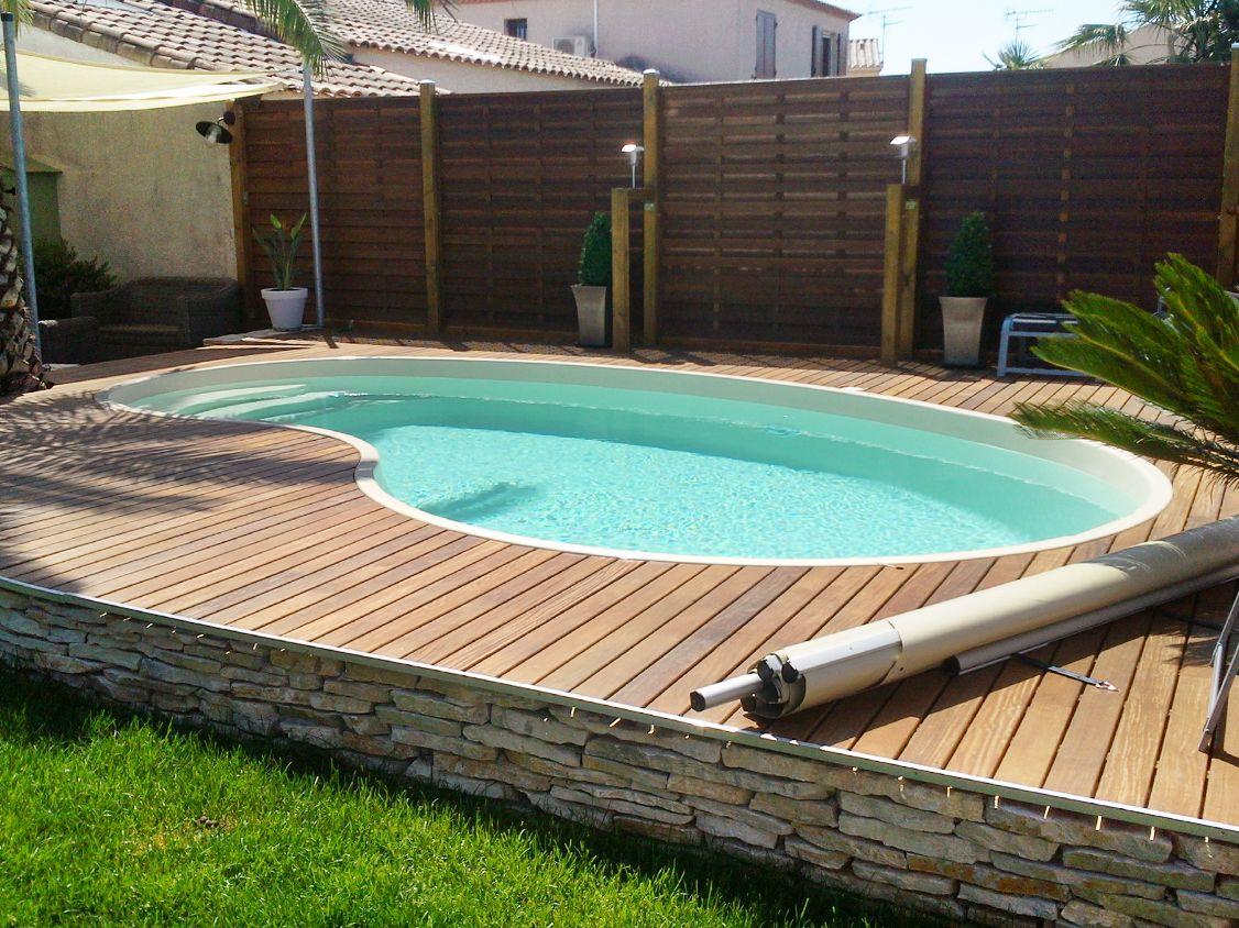 piscine semi enterrée haricot - Recherche Google | Outdoor living ...