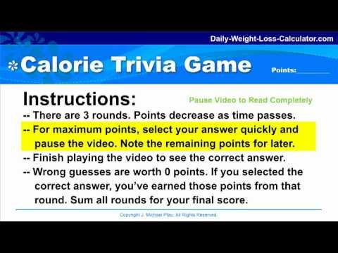 FIBER AND WEIGHT LOSS - Fun Calorie Trivia Game   Weight