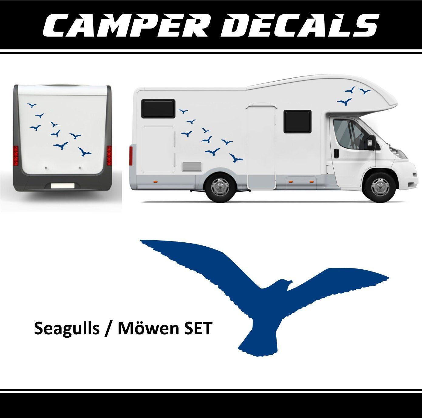 DECALS graphics 2 x FLYING BIRD MOTORHOME CARAVAN STICKERS