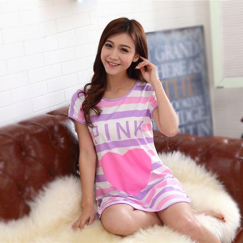 16b27f4f7ba1 wholesale New 2015 Women Nightgowns Cute Loose pijama women pajamas girl's  underwear nightdress sleep lounge women nightwear ...