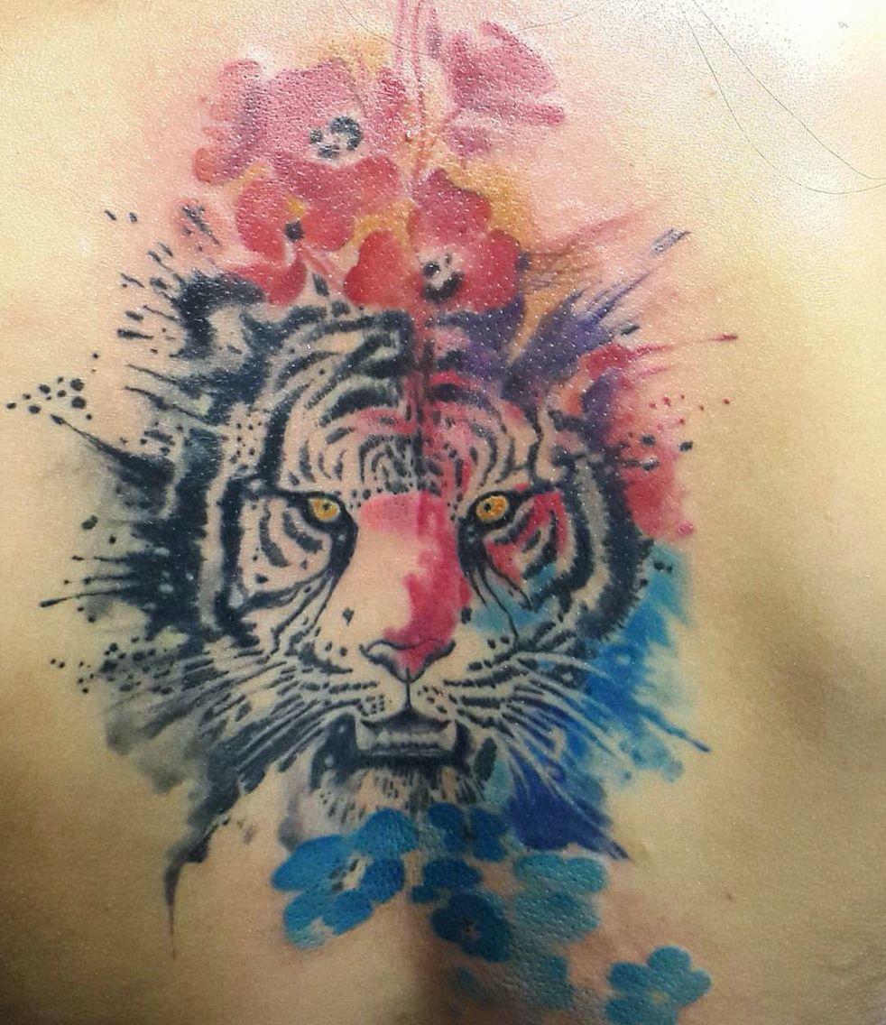 watercolor tiger by studio baraka russia