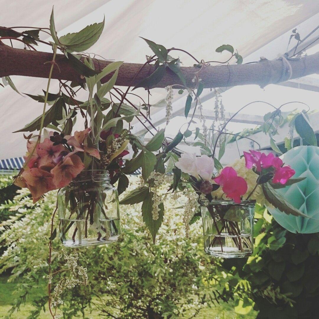 DIY blomster ophæng